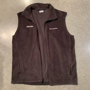 Deloitte Columbia Navy Fleece Vest NWOT